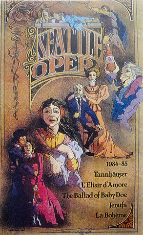 1984-85 Seattle Opera Season Poster