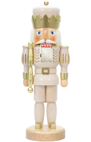 Handmade German White King Nutcracker