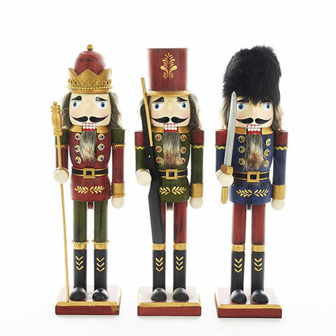 Soldier and King Nutcrackers