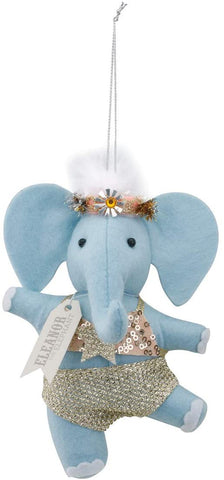 Felt Dancing Elephant Ornament