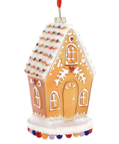 Gingerbread Glass Ornament