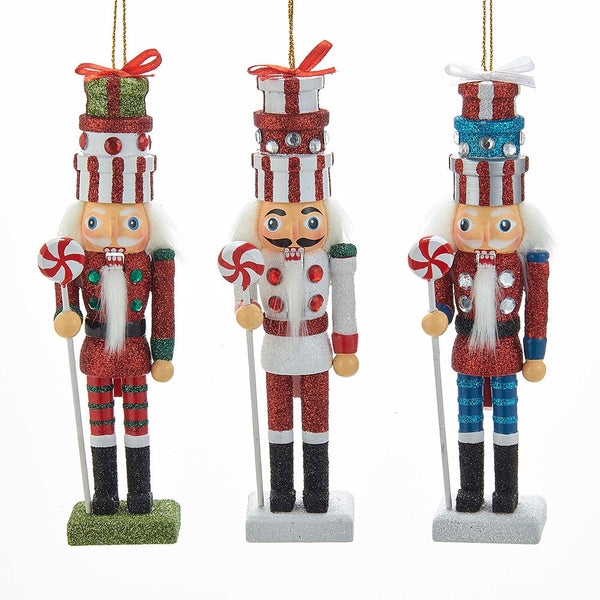 Gift Box Nutcracker Ornaments