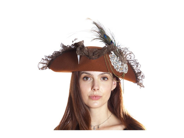 Lace & Peacock Pirate Hats