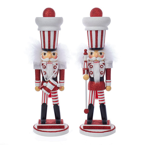 Red & White Stripe Nutcrackers
