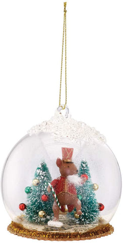 Squirrel Nutcracker Scene Ornament