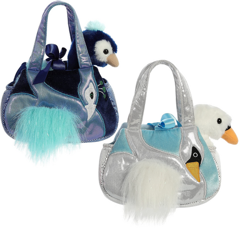 Plush Peacock & Swan Carriers