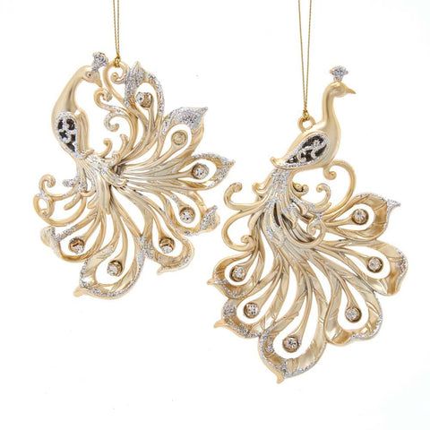Gold Peacock Ornaments