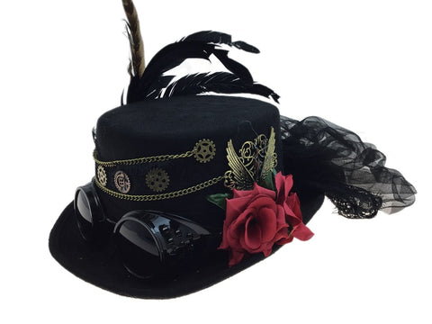 Steampunk Rose Top Hat
