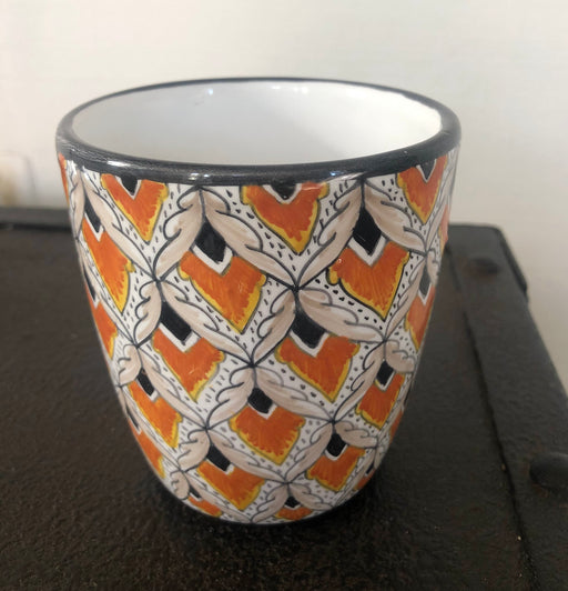 Margherita Black & Orange Mug