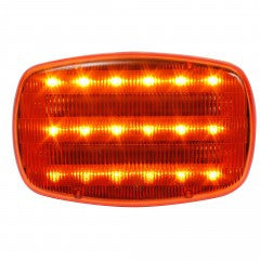 Amber LED Battery Operated Magnetic Safety Flashers