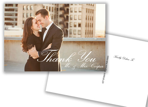 Thank You Postcard Urban Style