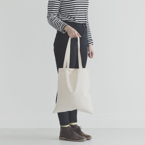 Blank canvas tote bag for screen printing