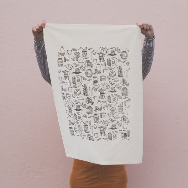 Blank tea towel for screen printing