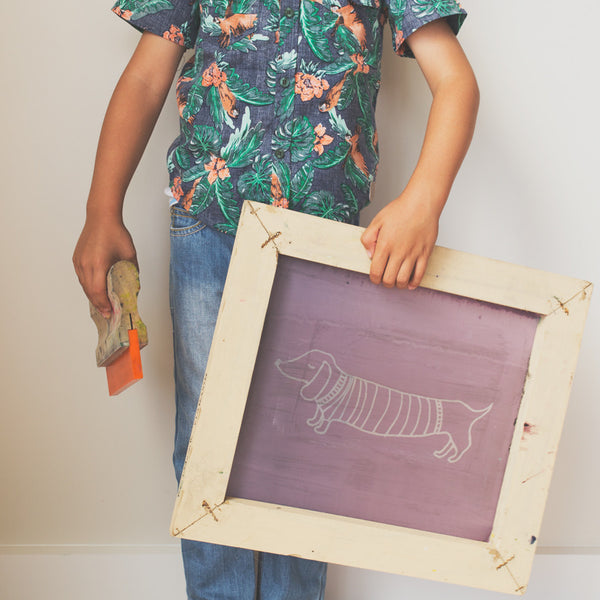 Kids screen printing classes at The Neighbourhood Studio in Wellington.
