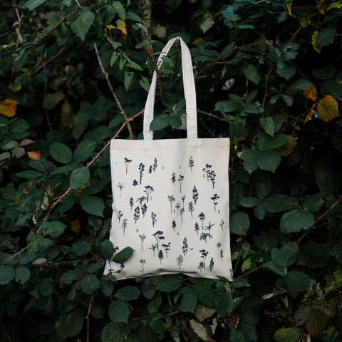 Forest Drawn tote bag.