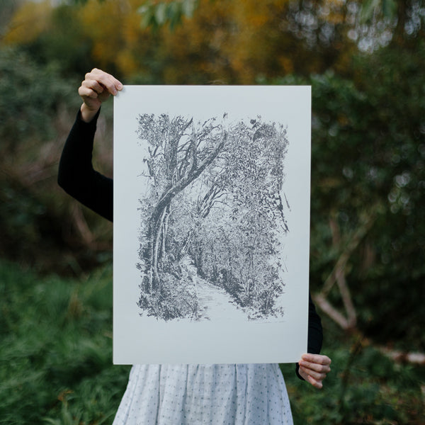 Zealandia Print by Forest Drawn.