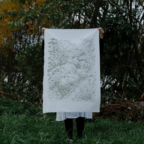 Central Park fabric wall hanging by Forest Drawn.