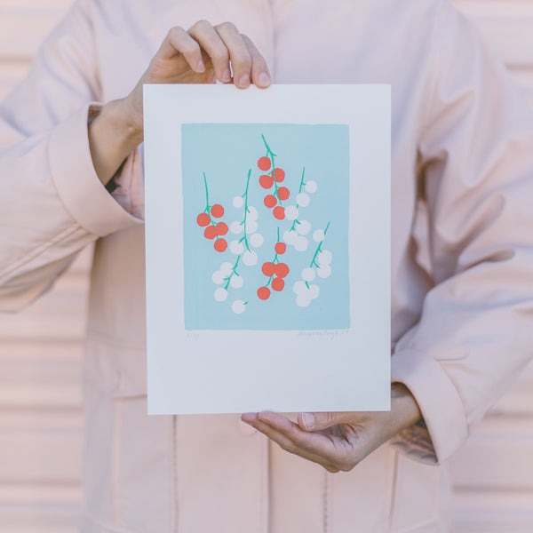 Screen print by Amy Van Luijk