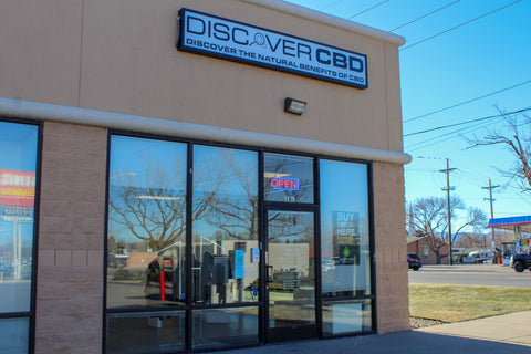 Discover CBD Franchise, Denver Store Front Entrance