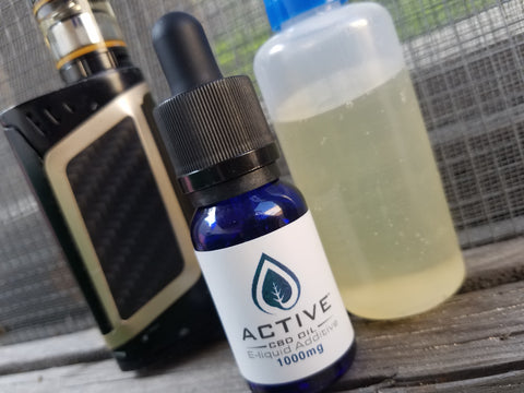CBD vape, CBD vape additive, Active CBD oil additive, CBD e-juice, CBD e-liquid