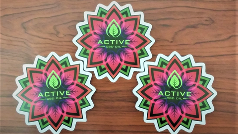 Active CBD oil, CBD Flower, CBD stickers, Discover CBD stickers, Active CBD oil stickers