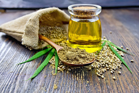 Hemp seeds, oil and powder