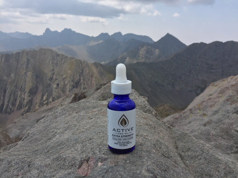 Discover CBD Water Soluble Tincture above 14,000 feet