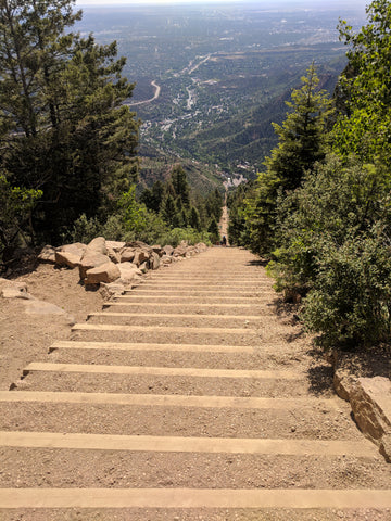 Manitou Incline, Staircase, Trees