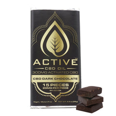 Active CBD Oil Dark Chocolate Bar