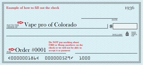Filling out the check or money order – Discover Health