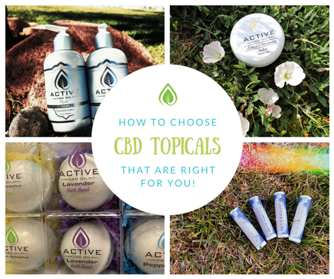 how to choose cbd topicals
