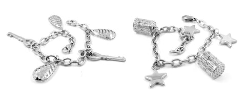 Two charm bracelets, photos by Jan Steiner
