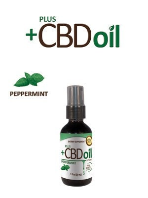 PlusCBD Spray - Cannabidiol Tincture - Peppermint - DiscoverCBD.com - 1