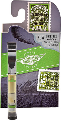Image of cbd vape cartridge with package green