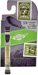 cbd vape cartridge with package green
