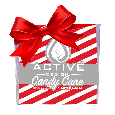 Image of Active CBD Oil - Candy Cane Bath Bomb