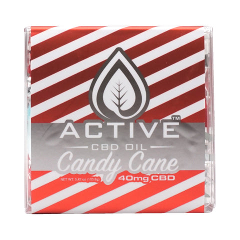 Active CBD Oil - Candy Cane Bath Bomb