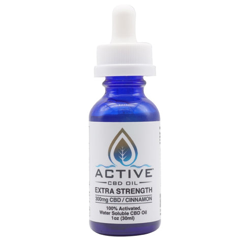 Active CBD oil tincture - Water Soluble - 300mg
