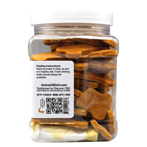 Image of Active CBD oil dog biscuits - 5mg Organic & Gluten/Soy Free