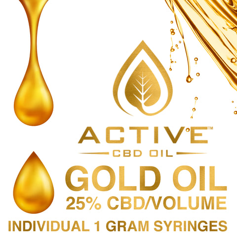 Image of Active CBD oil - Gold 25% - 1 gram