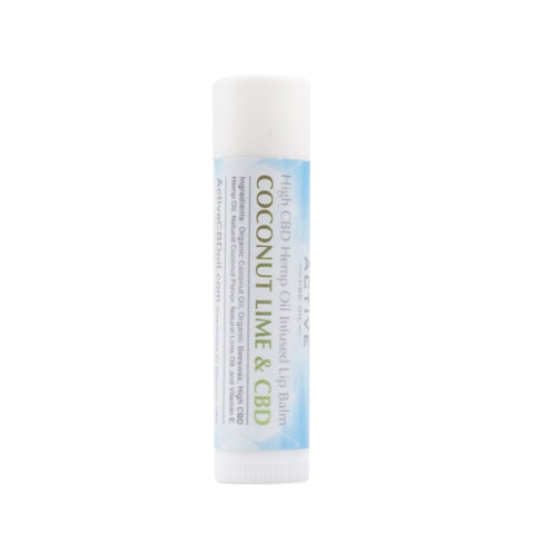 Image of cbd lip balm coconut lime