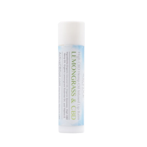 Image of cbd lip balm lemongrass