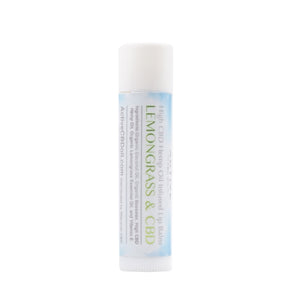 cbd lip balm lemongrass