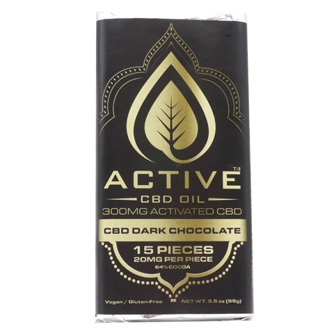 Image of CBD chocolate bar back