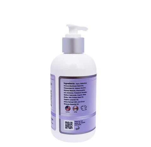 Image of CBD lotion back