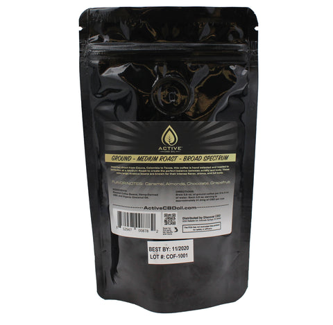 Image of CBD coffee bag back
