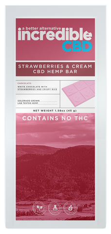 Incredible CBD Strawberries & Cream CBD Bar