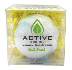CBD bath bomb lemongrass