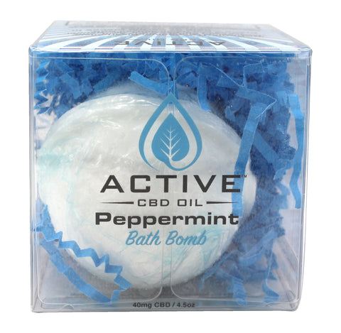 Image of CBD bath bomb peppermint