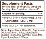NEW! PlusCBD Gold Drops - Cannabidiol Tincture - Peppermint